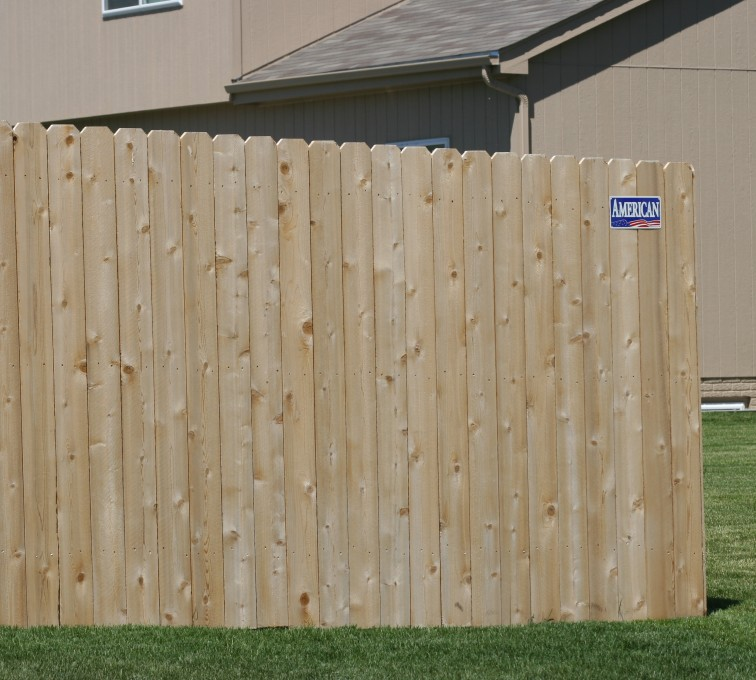 American Fence - Lincoln - Wood Fencing, 1022 6' solid privacy