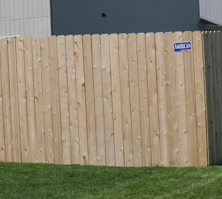 American Fence - Lincoln - Wood Fencing, 1023 6' solid privacy