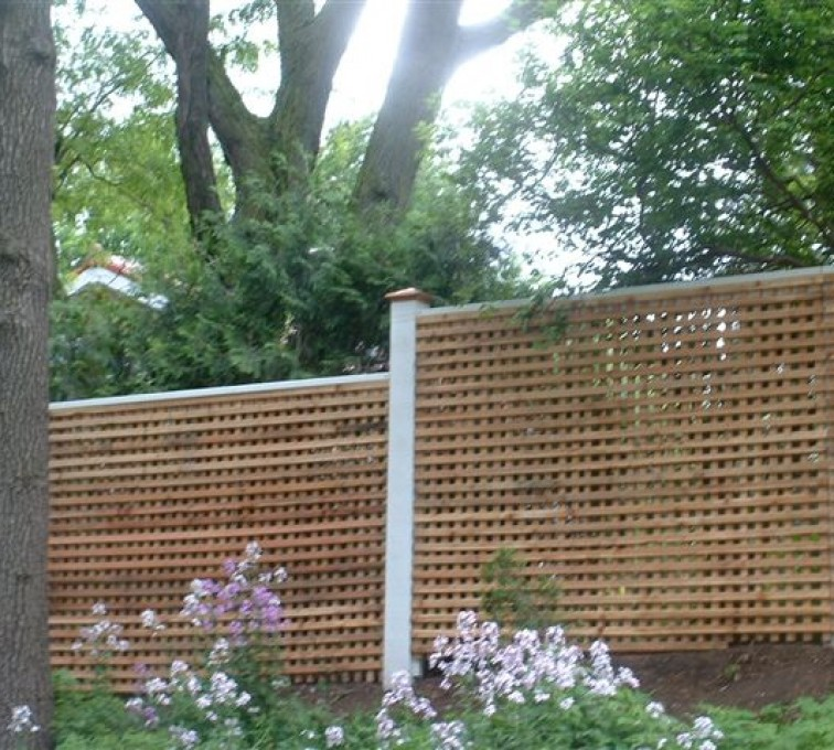 American Fence - Lincoln - Wood Fencing, 1027 Lattice fence