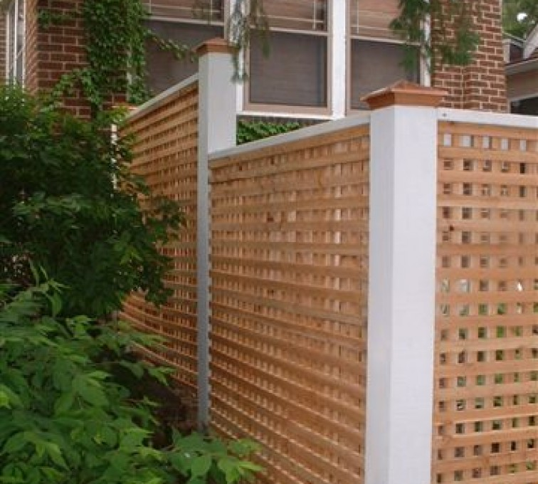 American Fence - Lincoln - Wood Fencing, 1028 Lattice Fence