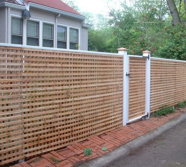 American Fence - Lincoln - Wood Fencing, 1030 Lattice Fence