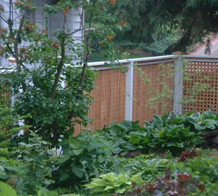 American Fence - Lincoln - Wood Fencing, 1031 Lattice Fence