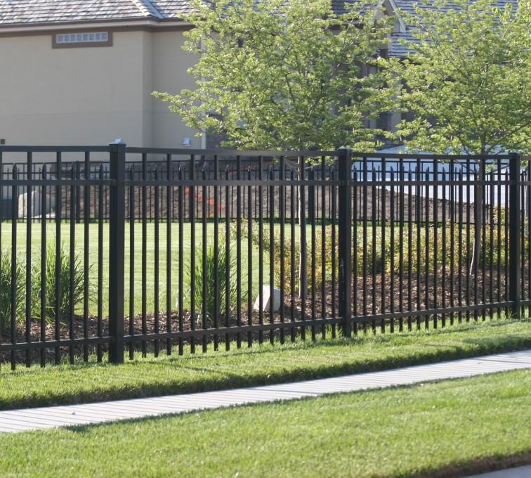 American Fence - Lincoln - Ornamental Fencing, 1050 4' Echelon Conquer 3 rail