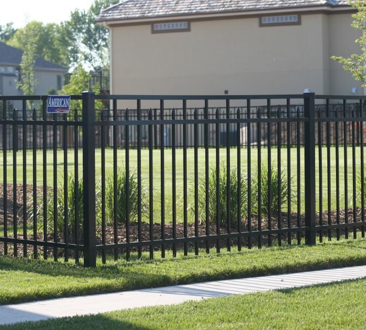American Fence - Lincoln - Ornamental Fencing, 1051 4' 3 rail