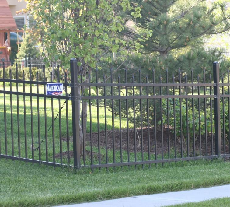American Fence - Lincoln - Ornamental Fencing, 1054 4' 3 rail black 3