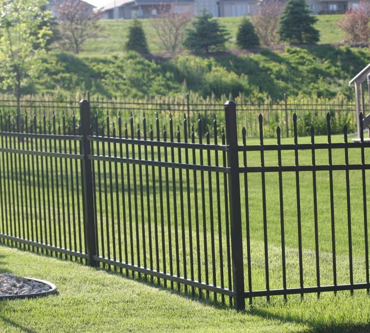 American Fence - Lincoln - Ornamental Fencing, 1056 4' 3 rail black