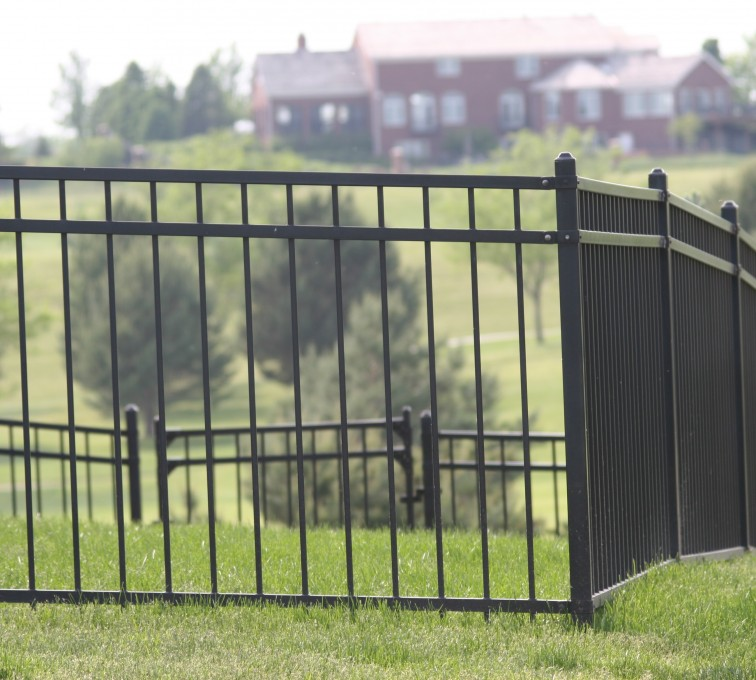 American Fence - Lincoln - Ornamental Fencing, 1057 5' flat top