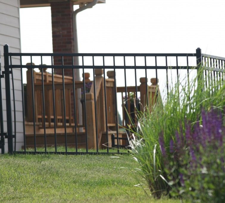 American Fence - Lincoln - Ornamental Fencing, 1058 5' flat top