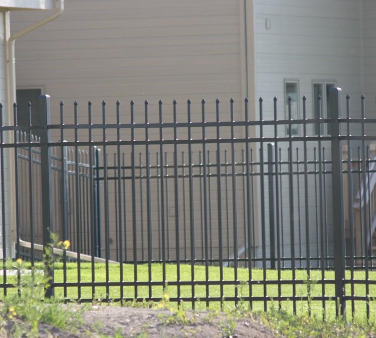 American Fence - Lincoln - Ornamental Fencing, 1059 6' spear top 4 rail black 3