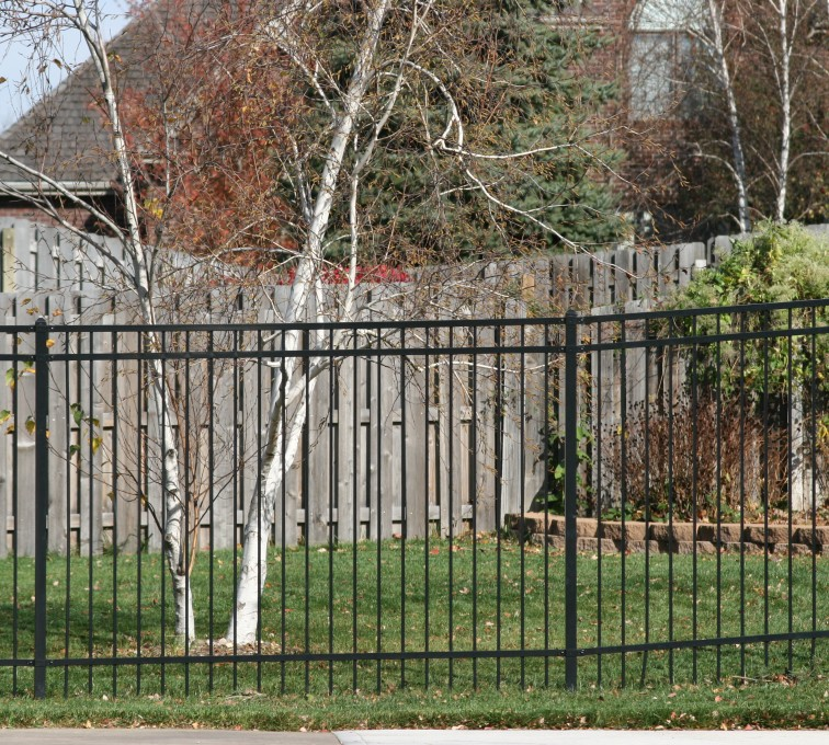 American Fence - Lincoln - Ornamental Fencing, 1067 Flat Top 6'