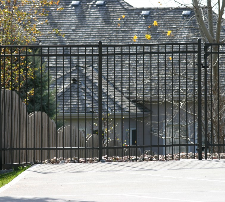 American Fence - Lincoln - Ornamental Fencing, 1068 Flat Top 6'