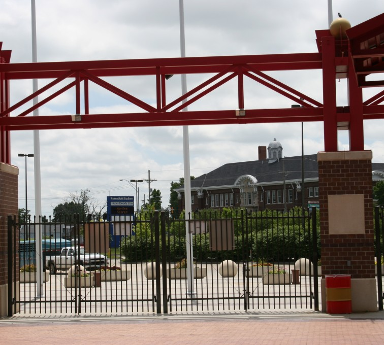 American Fence - Lincoln - Ornamental Fencing, 1070 Spear Top Bronze Rosenblatt Stadium