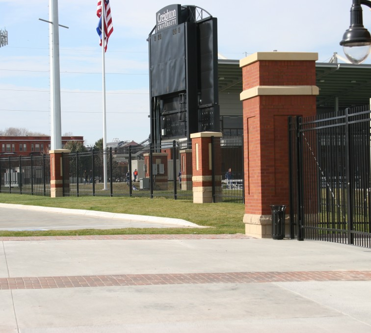 American Fence - Lincoln - Ornamental Fencing, 1071 Black Spear Top Creighton Soccer Fields