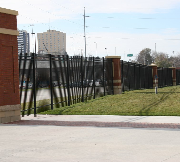 American Fence - Lincoln - Ornamental Fencing, 1072 Black Spear Top Creighton Soccer Fields