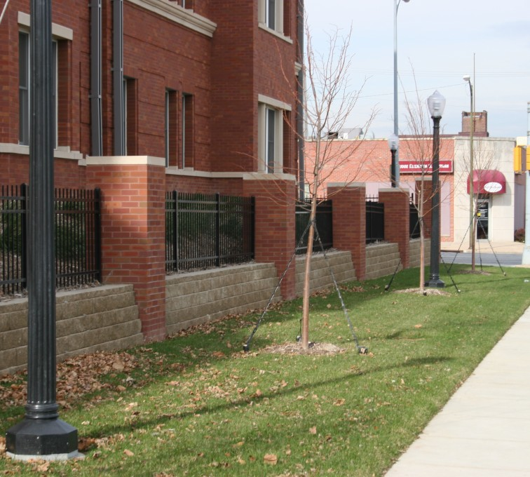 American Fence - Lincoln - Ornamental Fencing, 1073 Spear Top Black Creighton Student Housing
