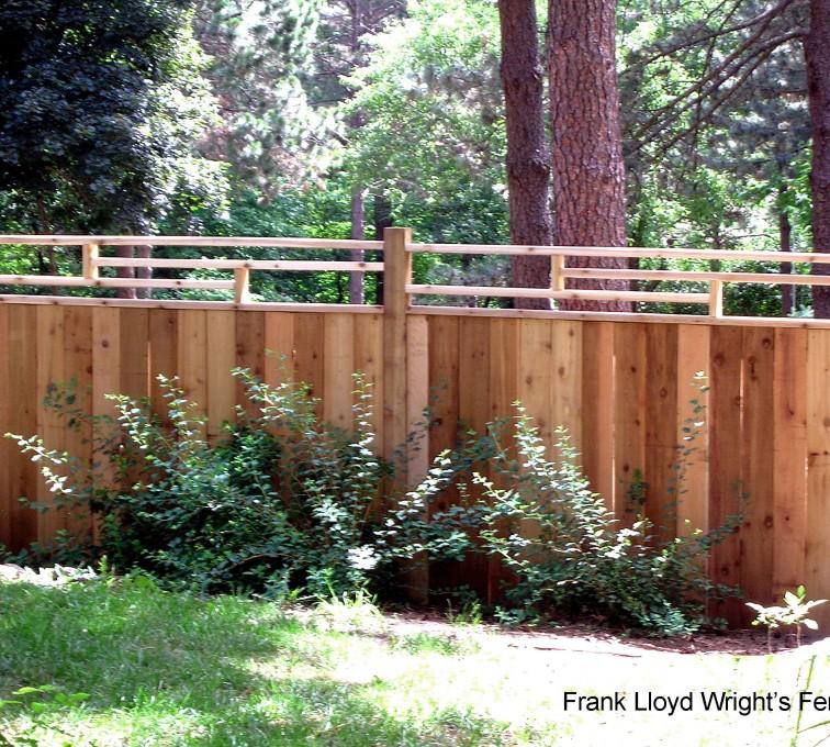 American Fence - Lincoln - Wood Fencing, 1074 Frank Lloyd Wright Fence