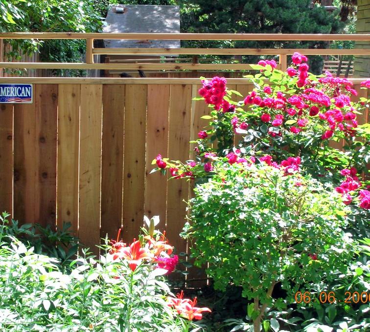 American Fence - Lincoln - Wood Fencing, 1075 Frank Lloyd Wright Fence