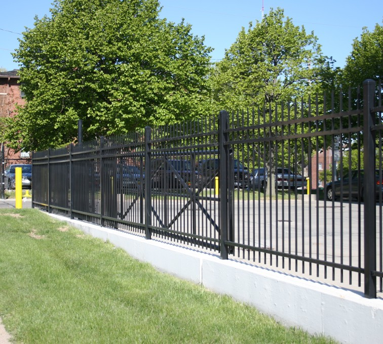 American Fence - Lincoln - Ornamental Fencing, 1077 Spear Top Black Energy Services