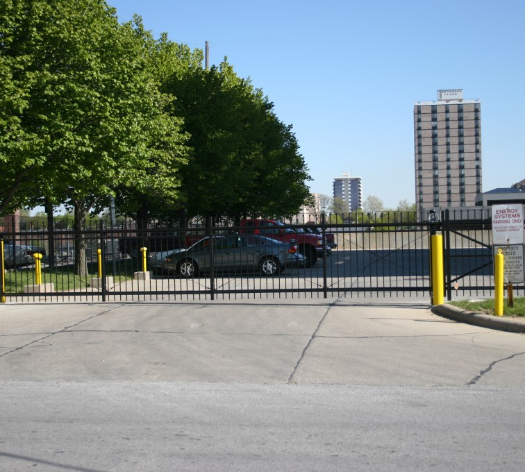 American Fence - Lincoln - Ornamental Fencing, 1079 Spear Top Black Gate Energy Services Gate