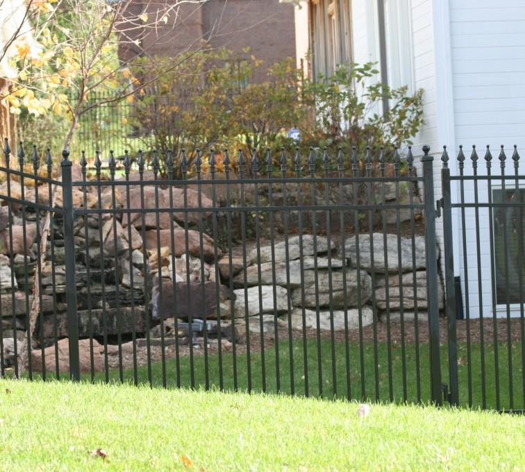 American Fence - Lincoln - Custom Iron Gate Fencing, 1208 Classic Quad Flare Ornamental Iron