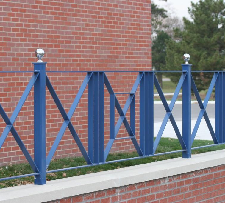 American Fence - Lincoln - Custom Iron Gate Fencing, 1219 Flat Bar crossing pattern