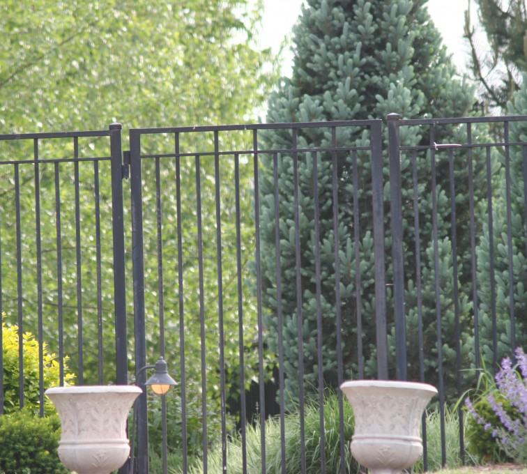 American Fence - Lincoln - Custom Iron Gate Fencing, 1223 Straight picket gate
