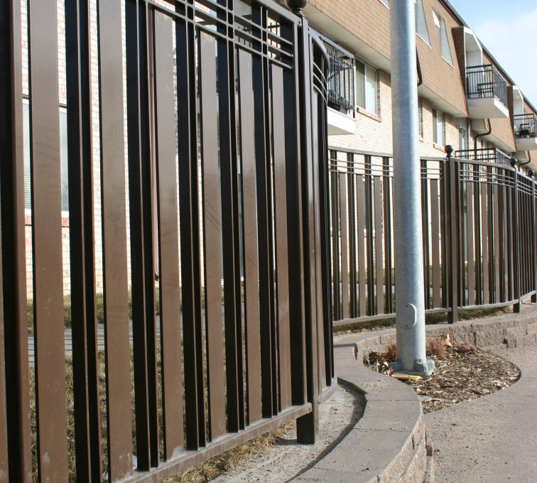 American Fence - Lincoln - Custom Iron Gate Fencing, 1246 Checker Board Fence