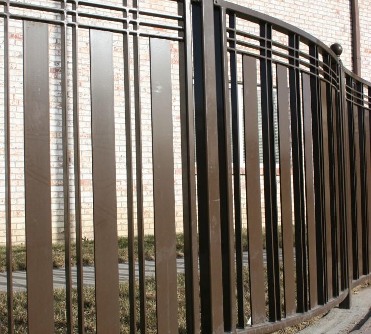 American Fence - Lincoln - Custom Iron Gate Fencing, 1247 Checker Board Fence