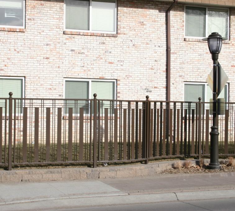 American Fence - Lincoln - Custom Iron Gate Fencing, 1249 Checker Board Fence