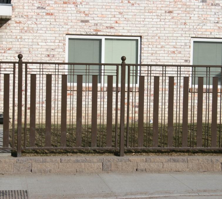 American Fence - Lincoln - Custom Iron Gate Fencing, 1250 Checker Board Fence