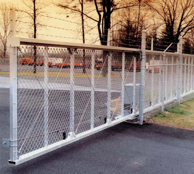 American Fence - Lincoln - Custom Gates, 2107 TyMetal Heavy Duty Aluminum Slide Gate
