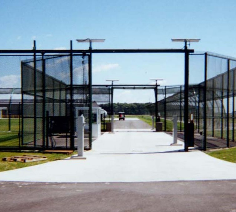 American Fence - Lincoln - Custom Gates, Estate Telephone Entry, 2110 TyMetal Plus Gate at Prison Sallyport