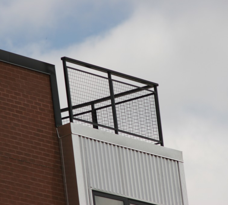 American Fence - Lincoln - Custom Railing, 2201 Railing with mesh infill