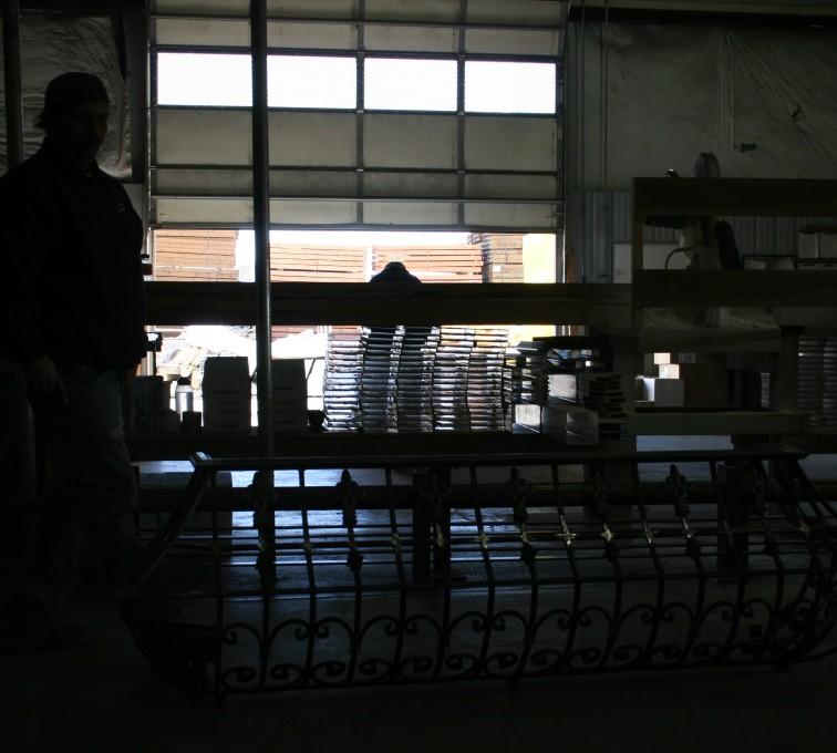 American Fence - Lincoln - Custom Railing, 2218 Balcony Railing in Fabrication
