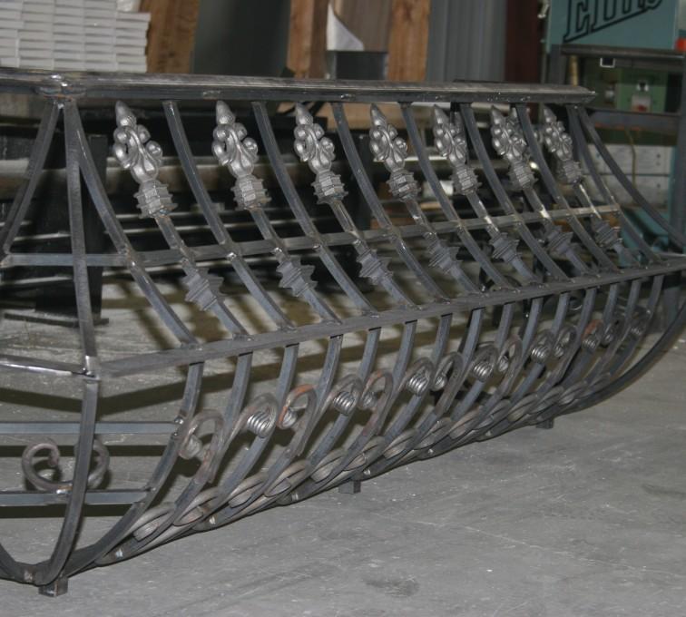 American Fence - Lincoln - Custom Railing, 2219 Balcony Railing in Fabrication