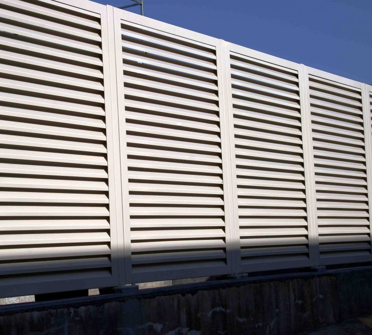 American Fence - Lincoln - Louvered Fence Systems Fencing, 2223 Louvered Fence