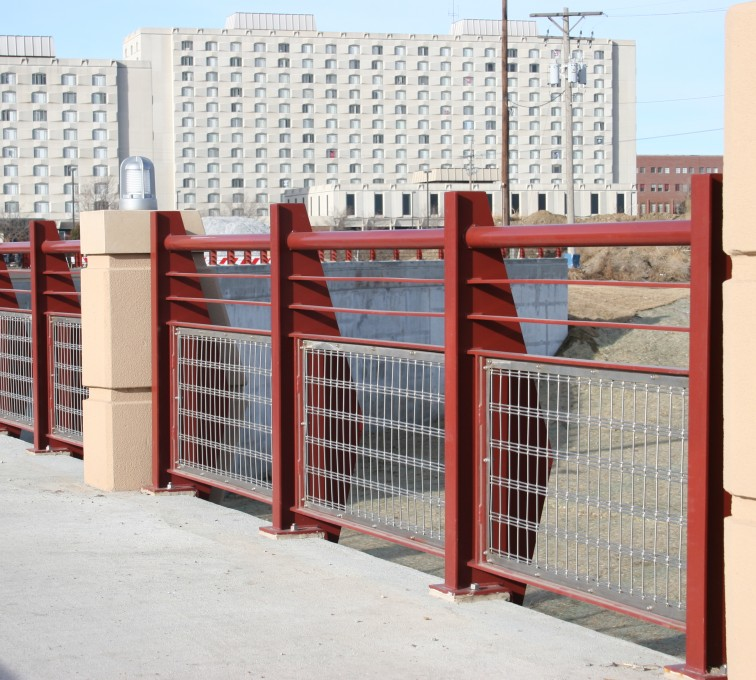 American Fence - Lincoln - Custom Railing, 2223 Stainless in-fill Railing