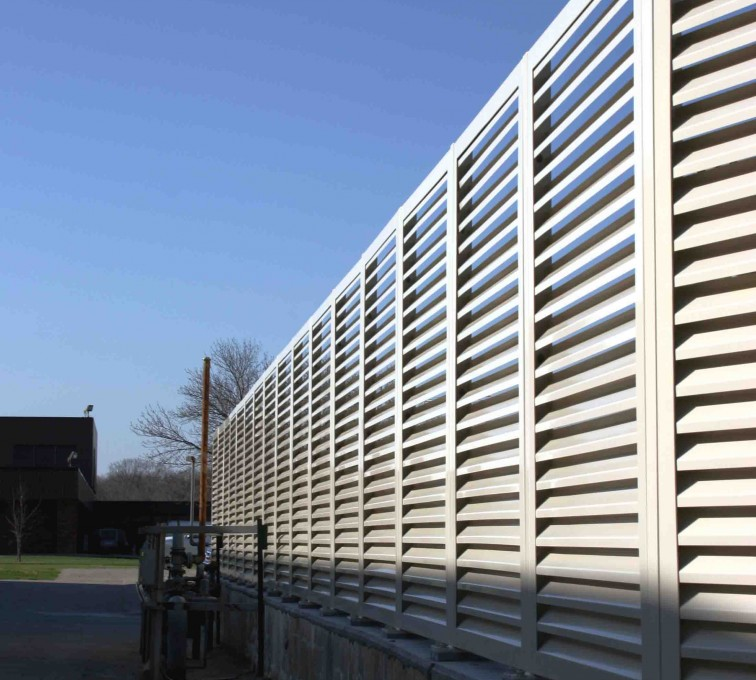 American Fence - Lincoln - Louvered Fence Systems Fencing, 2224 Louvered Fence
