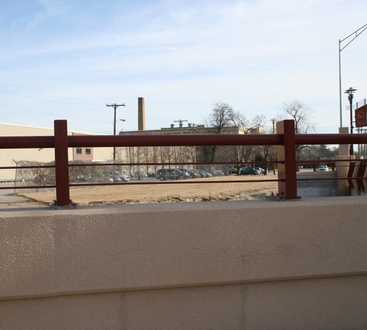 American Fence - Lincoln - Custom Railing, 2226 Knee Wall Railing