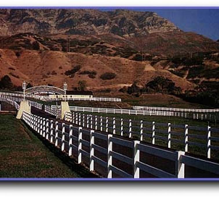 American Fence - Lincoln - Vinyl Fencing, 3 Ranch Rail (956)