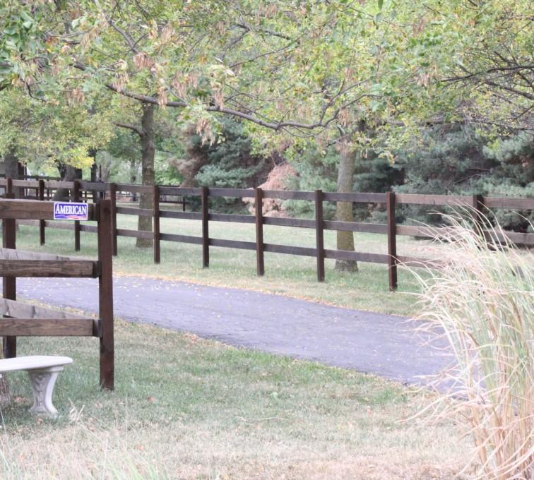American Fence - Lincoln - Wood Fencing, 3 Rail Ranch Rail - Consbruck