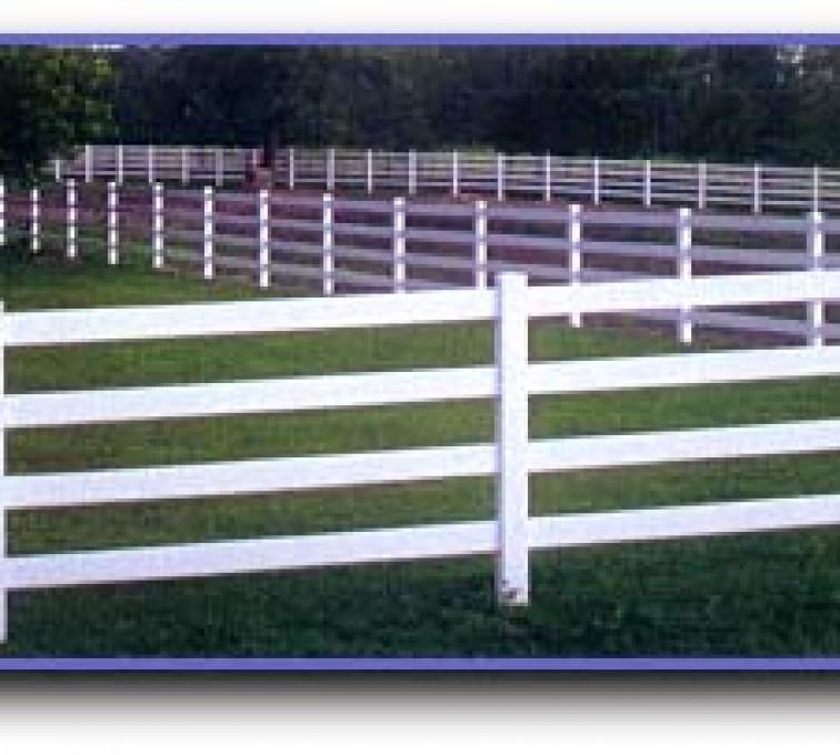 American Fence - Lincoln - Vinyl Fencing, 4 Ranch Rail (958)