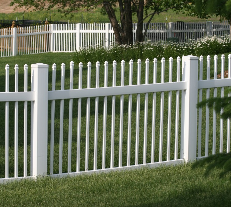 American Fence - Lincoln - Vinyl Fencing, 4' Ornamental Picket 855