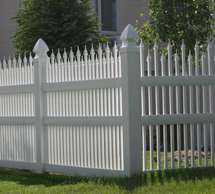 American Fence - Lincoln - Vinyl Fencing, 4' Ornamental Warrior 853