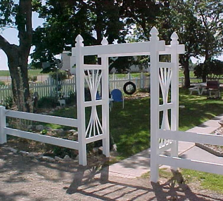 American Fence - Lincoln - Vinyl Fencing, Arbor 502