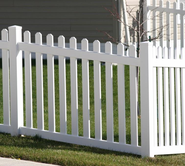 American Fence - Lincoln - Vinyl Fencing, 558 Vinyl 4' picket