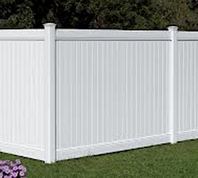 American Fence - Lincoln - Vinyl Fencing, 6' White Polid Privacy PVC - AFC - IA