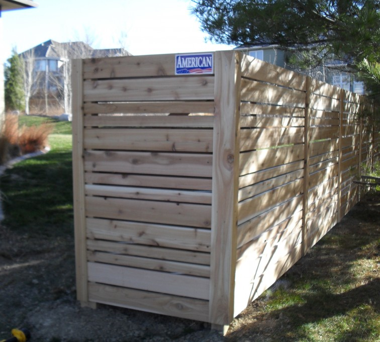 American Fence - Lincoln - Wood Fencing, 6' Horizontal Wood White A