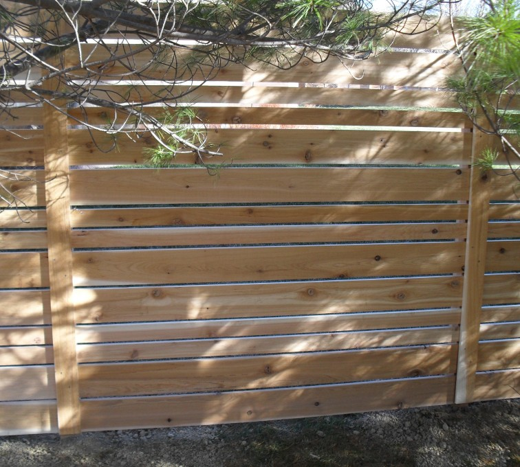 American Fence - Lincoln - Wood Fencing, 6' Horizontal Wood White B