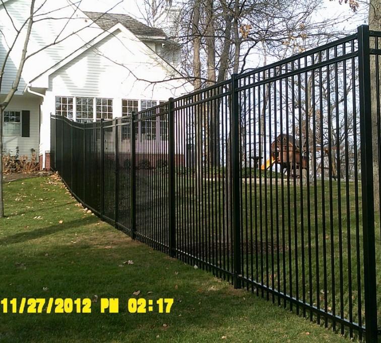 American Fence - Lincoln - Ornamental Fencing, 6' Flat Top - AFC -IA